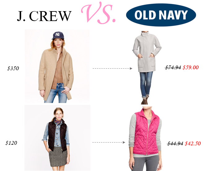 J.Crew VS Old Navy